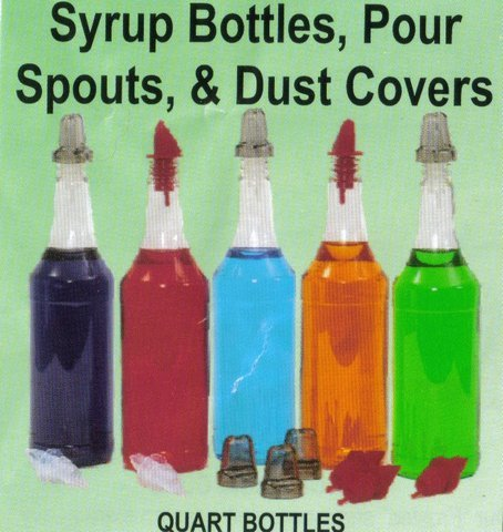 Quart Pour Bottle for Snow Cone Syrups