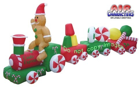 14 foot candy express christmas train inflatable view images