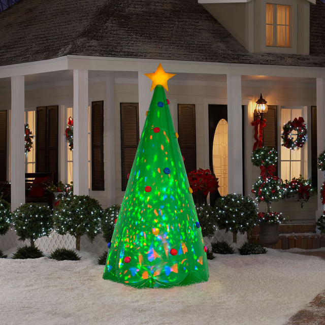kaleidoscope christmas tree airblown inflatable - Outdoor Christmas Inflatables