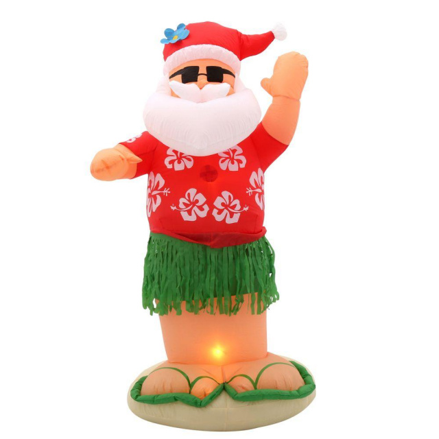 santa hula dancer christmas inflatable - Inflatable Christmas