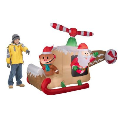 Santas 2015 Animated Helicopter Inflatable