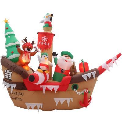 Santa Pirate Ship Christmas Inflatable