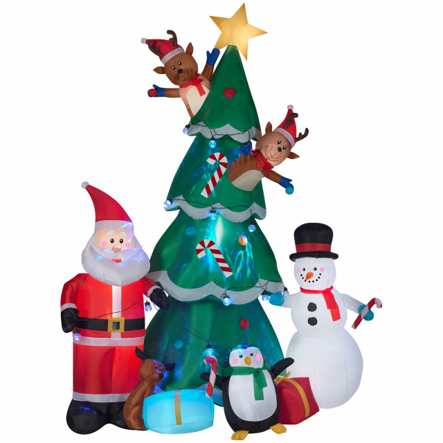 Animated Christmas Tree With Santa Airblown Inflatable