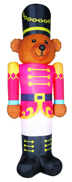Fuzzy Bear Soldier Christmas Inflatable - 2017 Christmas Inflatable