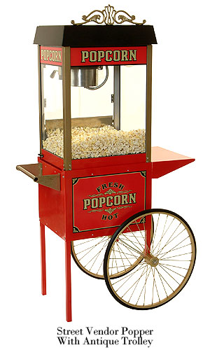 Popcorn Machine and Cart