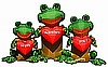 3 Frogs Valentine Inflatable
