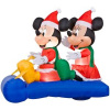 5 Foot Mickey and Minnie Sled Christmas Inflatable