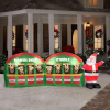 Reindeer Stable with Santa Christmas Inflatable