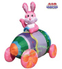Easter Bunny In EggCar Inflatable