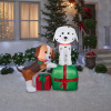 Dalmatian and Beagle Puppy Dogs Holiday Inflatable
