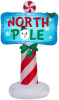 North Pole Sign Christmas Inflatable