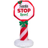 Santa Stop Here Christmas Inflatable