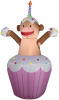 Monkey Birthday Cup Cake Inflatable