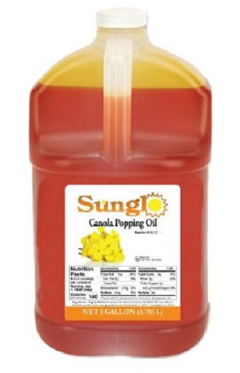 Popcorn Supplies - Gallon Canola Oil