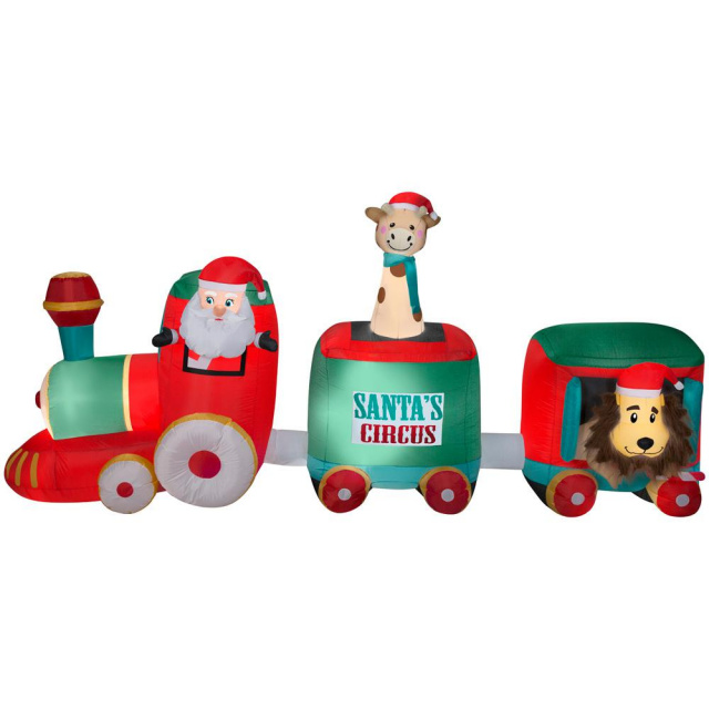 Santa Circus Train Christmas Inflatable