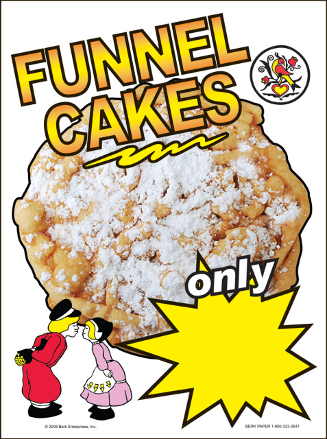 Funnel Cake Window Cling