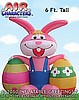 Easter Bunny Holding 2 Eggs Inflatable