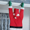 Santa Hanging from the Gutter Christmas Yard Decoration