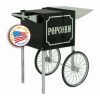 Popcorn Cart for 1911-4 oz Black and Chrome Popcorn Machine
