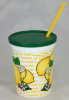 350 Ct. 16 Oz Lemonade Plastic Drink Cups with Lid and Straw