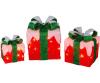 Set of 3 Lighted Gift Boxes