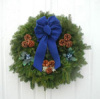 "24"" Balsam Blueberry Wreath"
