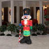 6.5 Foot Tall Red Nutcracker Christmas Inflatable