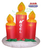 Set of 3 Noel Candles Christmas Inflatable