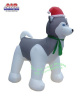 Siberian Husky Holiday Inflatable