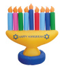 7 Footed Lighted Hanukkah Menorah Inflatabe