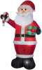 Giant Santa with Candy Cane and Gift Christmas Inflatable