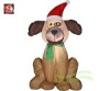 Airblown Dog Christmas Inflatable