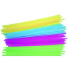"20"" Neon Straws for Half Yarder Bottles"