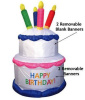 Birthday Cake Inflatable with 4 Candles