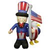 Uncle Sam With American Flag and Eagle Patriotic Inflatable