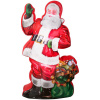 7 Foot Photorealistic Santa with Green Sack of Presents Christmas Inflatable
