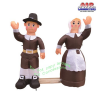 4 Ft. Pilgrim Amish Man And 3.5 Foot Amish Woman Thanksgiving Inflatable