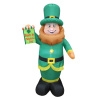 St. Patrick's Leprechaun With Banner Inflatable