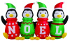 6 Foot Sweater Penguins Holiday Inflatable