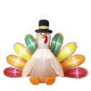 Turkey Thanksgiving Inflatable With Lighted Tail