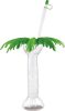 16 oz Clear Palm Tree Cup