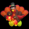 8.5 Turkey Family Thanksgiving Inflatable