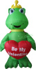 Frog Holding Heart Valentines Inflatable