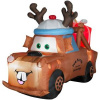 Mater with Reindeer Hat and Present Christmas Inflatable