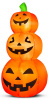 Lighted Stack Pumpkin Trio Harvest Inflatable