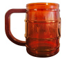 Translucent Plastic Barrel Drink Mug