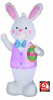 Easter Bunny in Purple Vest Inflatable