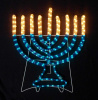 Lighted Rope Hanukkah Menorah Decor