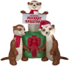 Meertkats with Gift Holiday Inflatable