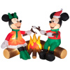Minnie and Mickey Roasting Marshmallows Christmas Inflatable